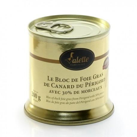 Le Bloc de Foie Gras de Canard du Périgord Avec 30% Morceaux 200g