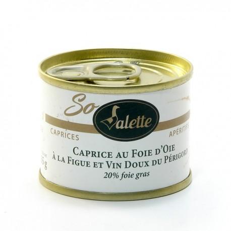 Caprice au Foie D'Oie Figue et Vin Blanc Doux du Périgord (20% de Foie Gras) 130g