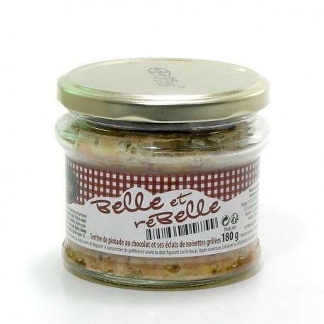 Belle et Rebelle Terrine de Pintade Chocolat et Noisettes Grillées 180g