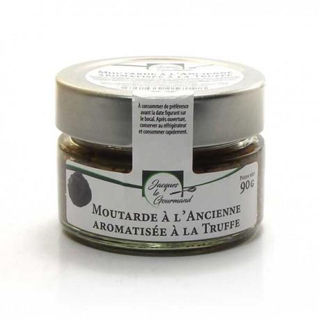 Moutarde à l'ancienne aromatisée à la truffe 90g Valette
