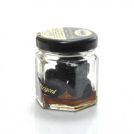 Morceaux de truffes noires du Périgord entières brossées 1e choix tuber melanosporum 12,5g Valette