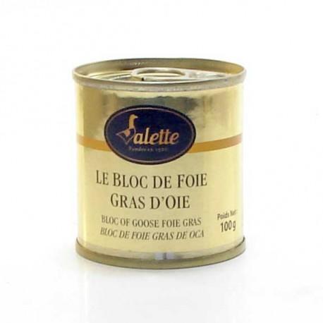 Le bloc de foie gras d'oie 100g Valette