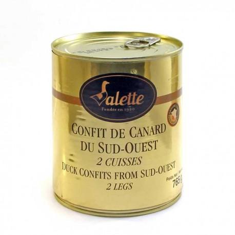 Confit de Canard du Sud-Ouest 765g (2 Cuisses) Valette
