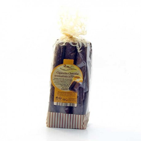 Cigarette à L'Huile Essentielle D'Orange Enrobage Chocolat de Montcuq 180g