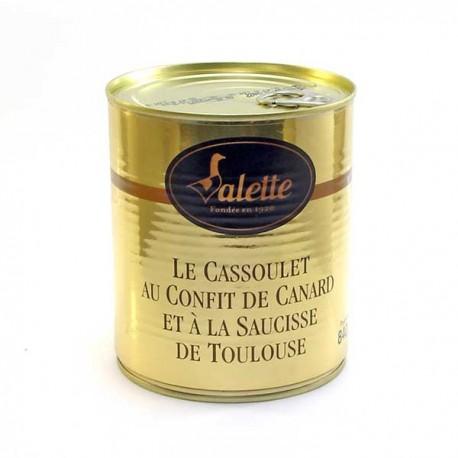Cassoulet au confit de canard et à la saucisse de Toulouse 840g Valette