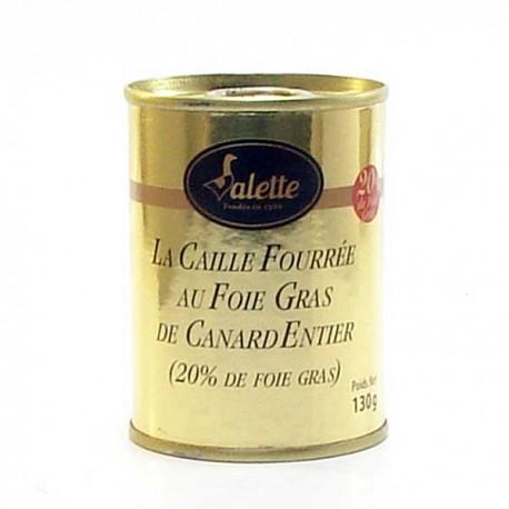 La caille fourrée au foie gras de canard entier de foie gras 130g Valette
