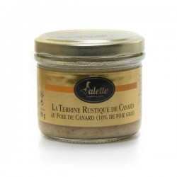 La terrine rustique de canard au foie de canard de foie gras 180g Valette