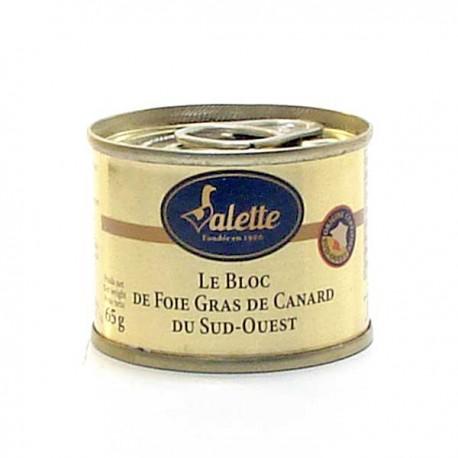 Le bloc de foie gras d'oie 65g Valette